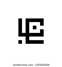 logo LC letter L technology IT combination L
