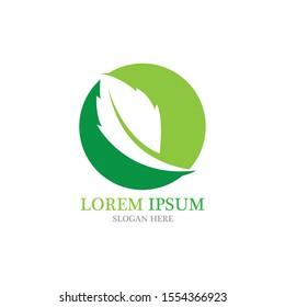 Logo leaf ecology nature element vector