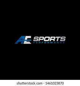 logo letter ae design simple sporty