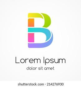 Logo letter B company vector design template.