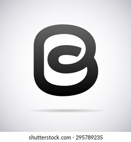 Logo for letter B. Design template