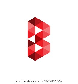 the logo letter B. Modern template. with a red texture on a white background. B logo technology for companies, digital and graphic graphics