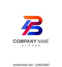 logo letter b, two letter logo p and b+  logo with a simple look, p and b icon, b and p icon,
