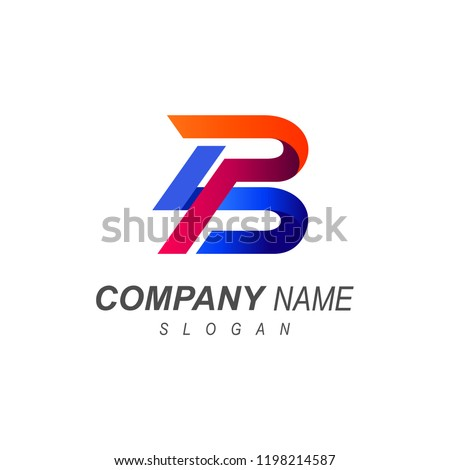 logo letter b two letter logo p and b logo with a simple look