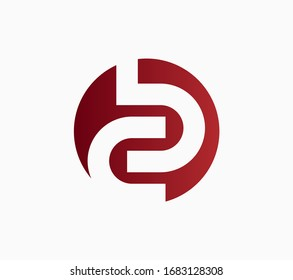 Logo letter BC or CB abstract. Eps rounded shape design template