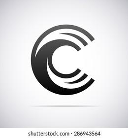 Logo for letter C. Design template