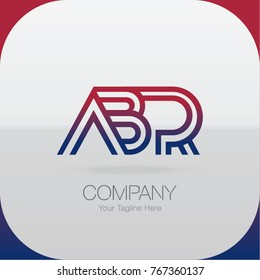 Logo Letter Combinations A, B and R. 3 Letter Combinations