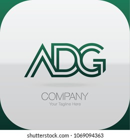 Logo Letter Combinations A, D and G. 3 Letter Combinations