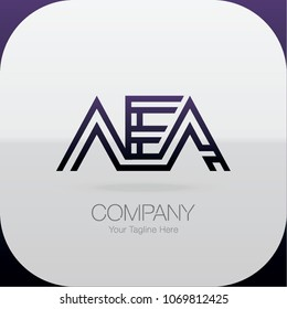 Logo Letter Combinations A, E and A. 3 Letter Combinations