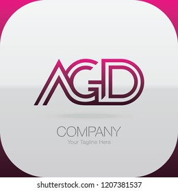 Logo Letter Combinations A, G and D. 3 letter combinations