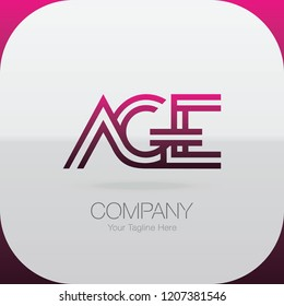Logo Letter Combinations A, G and E. 3 letter combinations