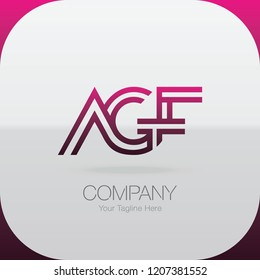 Logo Letter Combinations A, G and F. 3 letter combinations