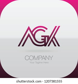 Logo Letter Combinations A, G and K. 3 letter combinations