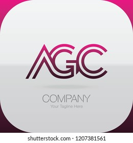 Logo Letter Combinations A, G and C. 3 letter combinations