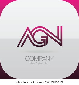 Logo Letter Combinations A, G and N. 3 letter combinations