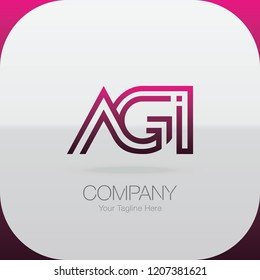 Logo Letter Combinations A, G and I. 3 letter combinations