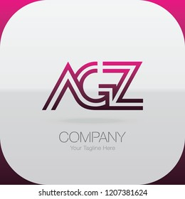 Logo Letter Combinations A, G and Z. 3 letter combinations