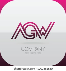 Logo Letter Combinations A, G and W. 3 letter combinations
