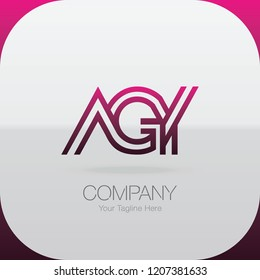 Logo Letter Combinations A, G and Y. 3 letter combinations