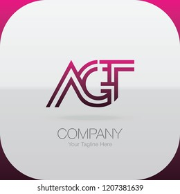 Logo Letter Combinations A, G and T. 3 letter combinations