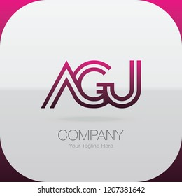 Logo Letter Combinations A, G and U. 3 letter combinations