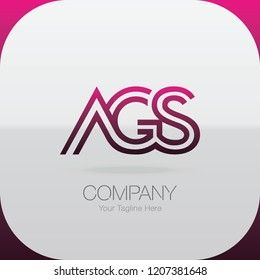 Logo Letter Combinations A, G and S. 3 letter combinations