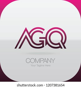 Logo Letter Combinations A, G and Q. 3 letter combinations