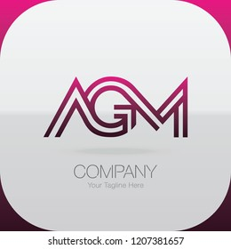 Logo Letter Combinations A, G and M. 3 letter combinations