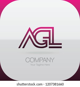 Logo Letter Combinations A, G and L. 3 letter combinations