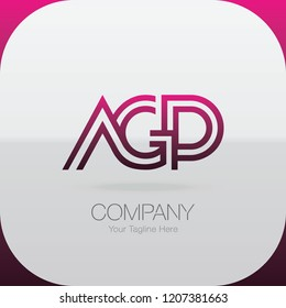 Logo Letter Combinations A, G and P. 3 letter combinations