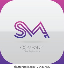 Logo Letter Combinations S, M and A. 3 Letter Combinations