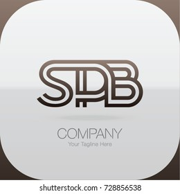 Logo Letter Combinations S, P and B. 3 Letter Combinations
