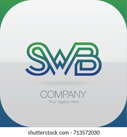 Logo Letter Combinations S, W and B. 3 Letter Combinations