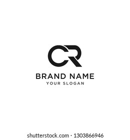 Logo letter CR, C, R creative design initials Abstract design - Vector