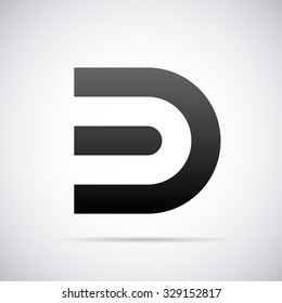 Logo for letter D