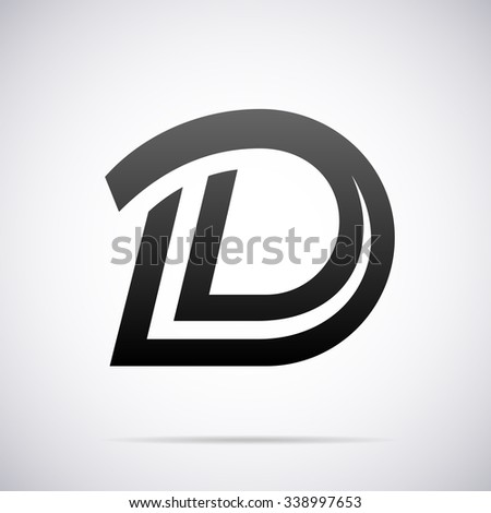 Logo Letter D Design Template Stock Vector (Royalty Free