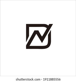 """logo letter """"DN"""" for your brand and company name"""
