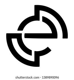 logo letter E vector clasik modern