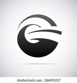 logo for letter g. Design template