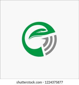 logo letter EG green