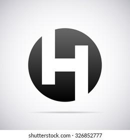 Logo for letter H. Design template