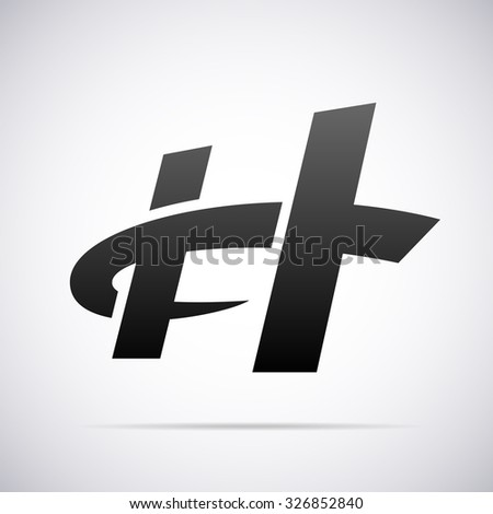 logo letter h design template stock vector royalty free 326852840