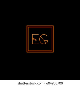eg logo letter initial, Abstract Polygonal Background Logo, design for Corporate Business Identity,flat icon, Alphabet letter
