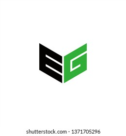 EG Logo Letter Initial With Black and Green Colors