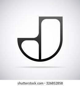 logo for letter j design template