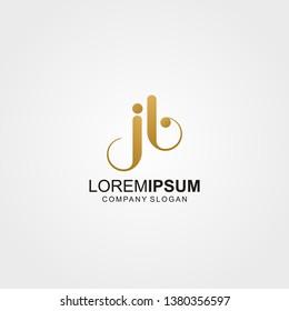 Logo letter JB Photography, aperture - Vector