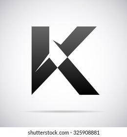 Logo for letter K. Design template