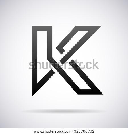 logo for letter k design template