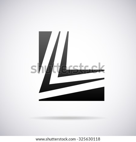 Logo Letter L Design Template Stock Vector Royalty Free 325630118