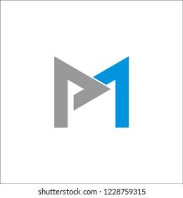 logo letter MP